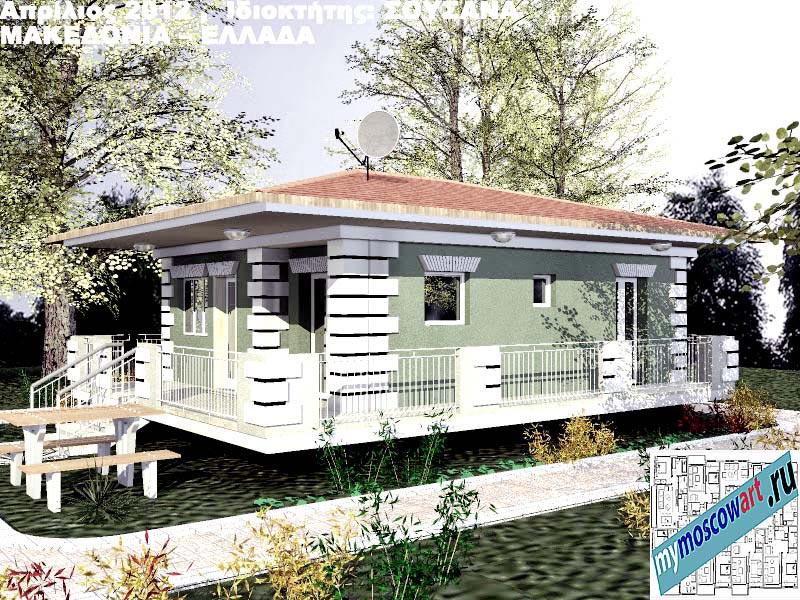 Проект дома - Сузана (Город Аспровальта - Греция) (3)
