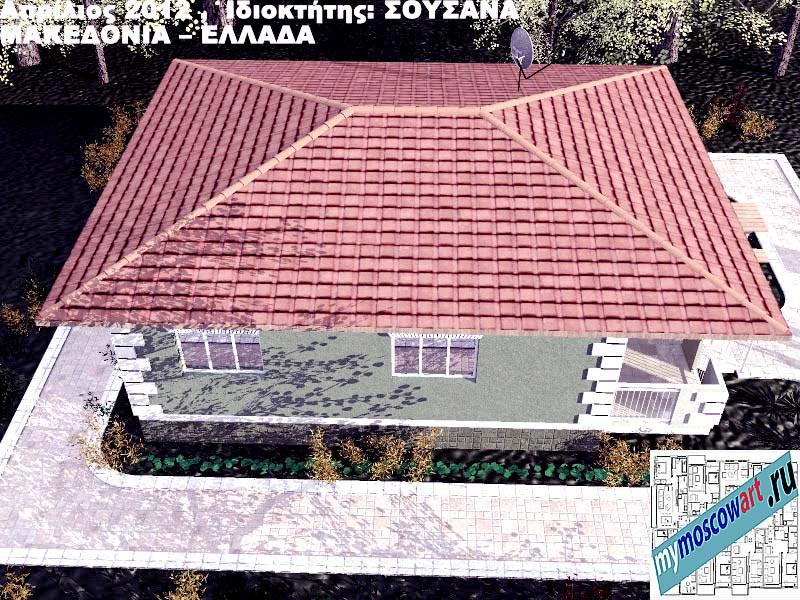 Проект дома - Сузана (Город Аспровальта - Греция) (9)