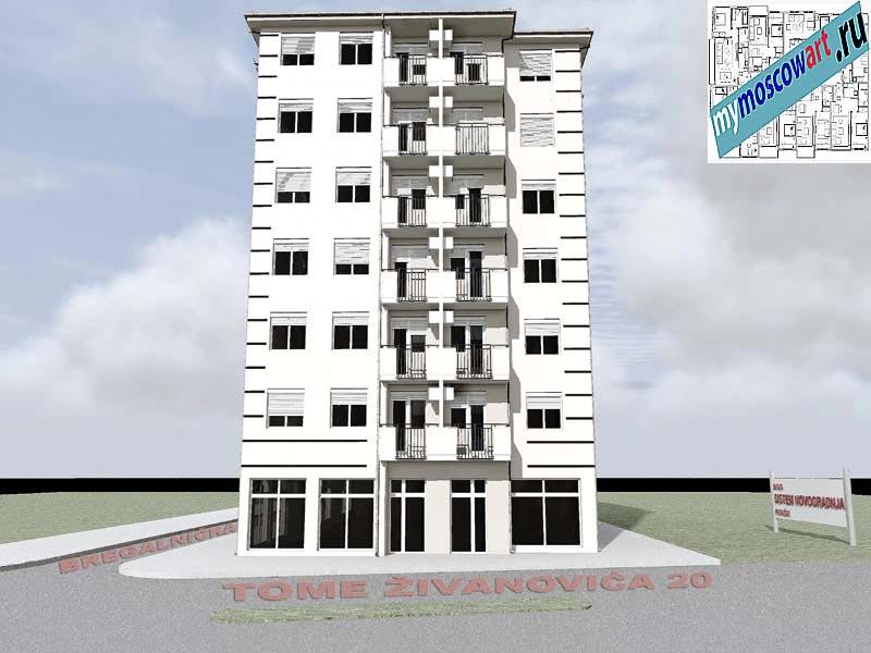 Проект здания - Йоцич (Город Парачин - Сербия) (1)