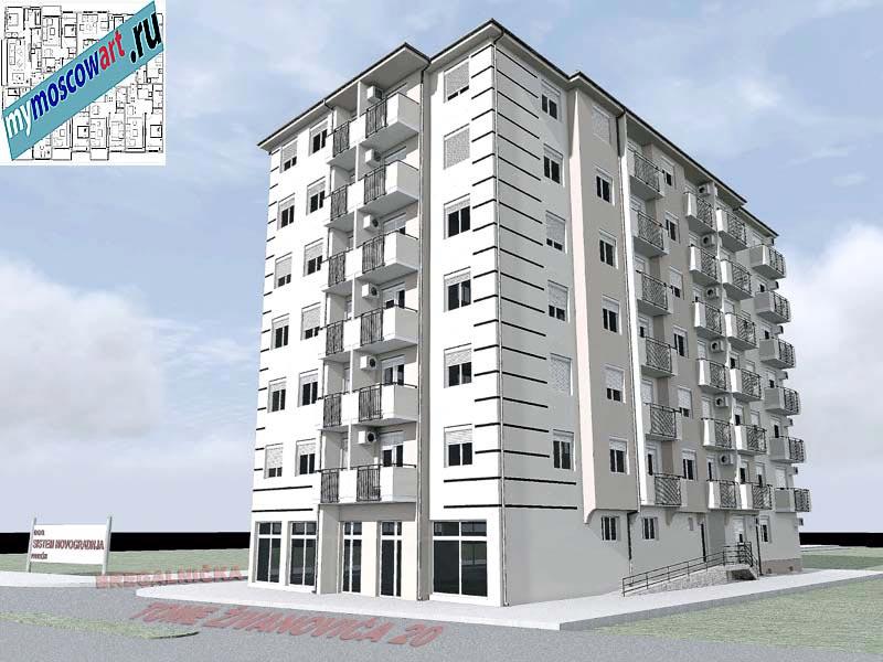 Проект здания - Йоцич (Город Парачин - Сербия) (2)