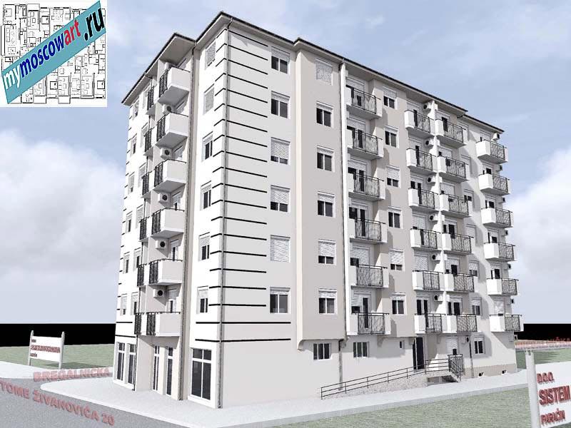 Проект здания - Йоцич (Город Парачин - Сербия) (3)