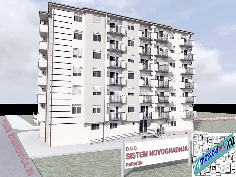 Проект здания - Йоцич (Город Парачин - Сербия) (4)