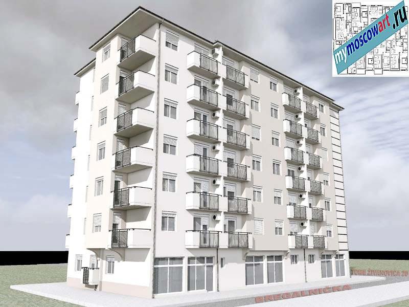 Проект здания - Йоцич (Город Парачин - Сербия) (6)