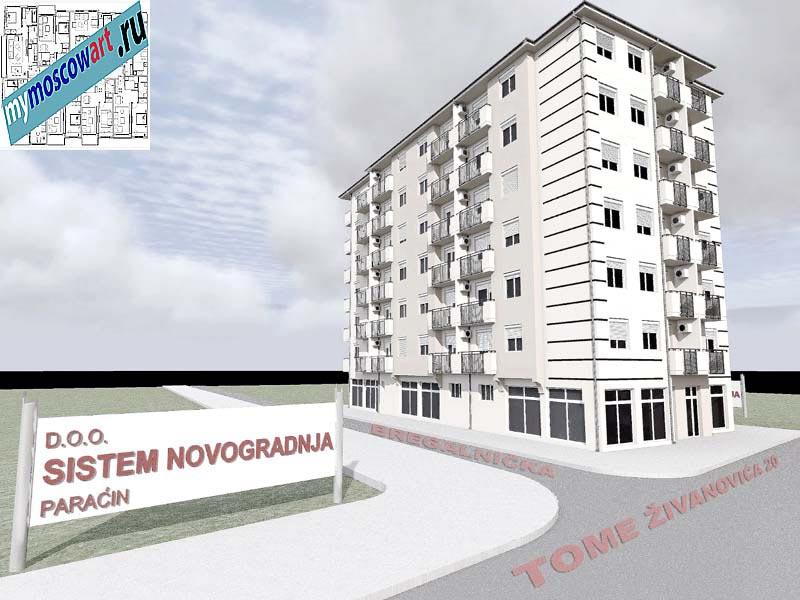 Проект здания - Йоцич (Город Парачин - Сербия) (9)
