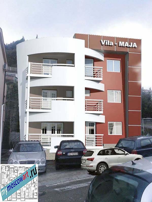Проект пристройки здания - Мая (Город Будва - Черногория) (1)