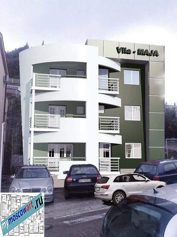 Проект пристройки здания - Мая (Город Будва - Черногория) (2)