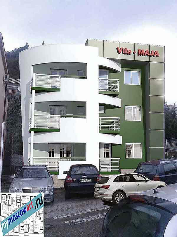 Проект пристройки здания - Мая (Город Будва - Черногория) (3)