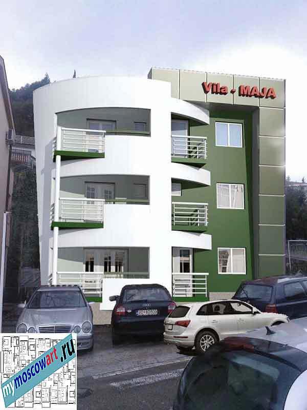 Проект пристройки здания - Мая (Город Будва - Черногория) (4)