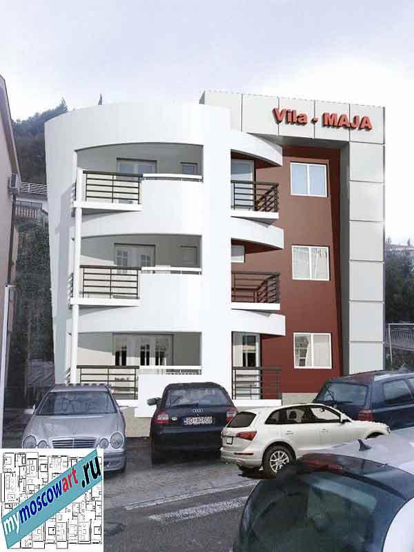 Проект пристройки здания - Мая (Город Будва - Черногория) (5)