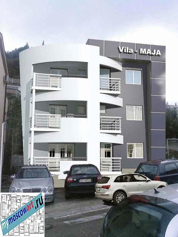 Проект пристройки здания - Мая (Город Будва - Черногория) (6)