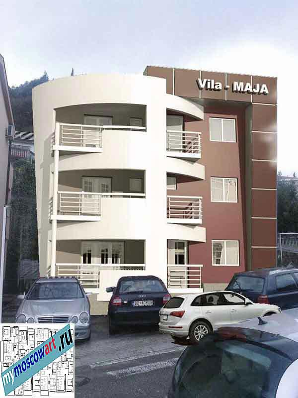 Проект пристройки здания - Мая (Город Будва - Черногория) (9)