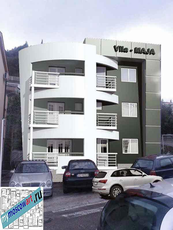 Проект пристройки здания - Мая (Город Будва - Черногория) (10)