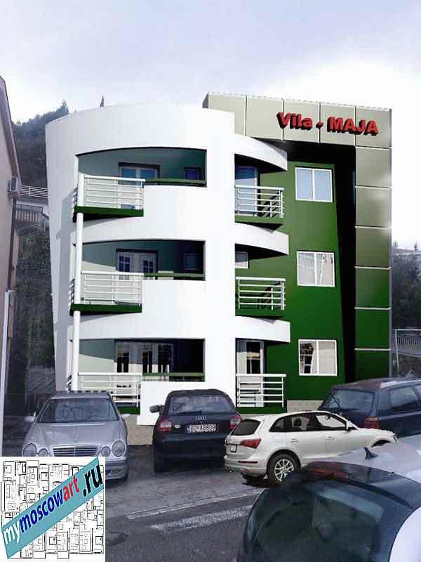 Проект пристройки здания - Мая (Город Будва - Черногория) (11)