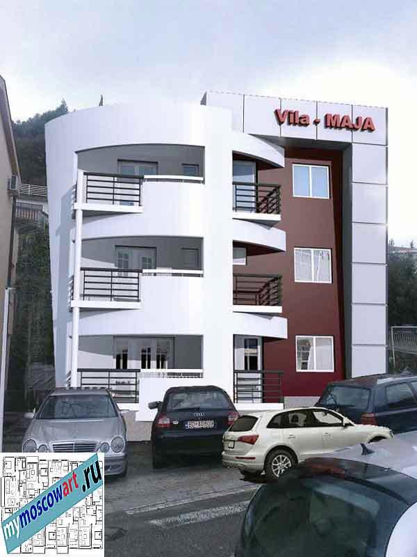 Проект пристройки здания - Мая (Город Будва - Черногория) (12)