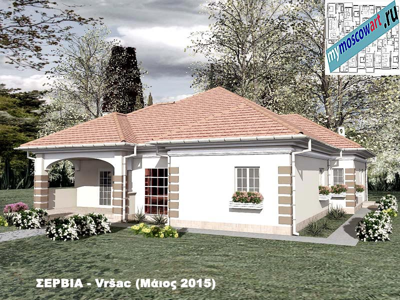 Проект дома - Милена (Город Вршац - Сербия) (2)