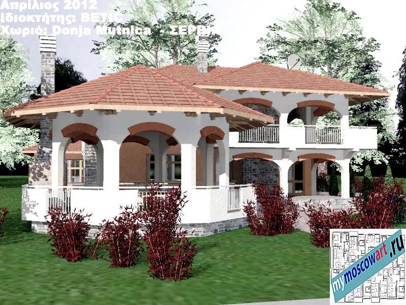 Проект дома - Бетич (Деревня Доня Мутница - Сербия) (1)