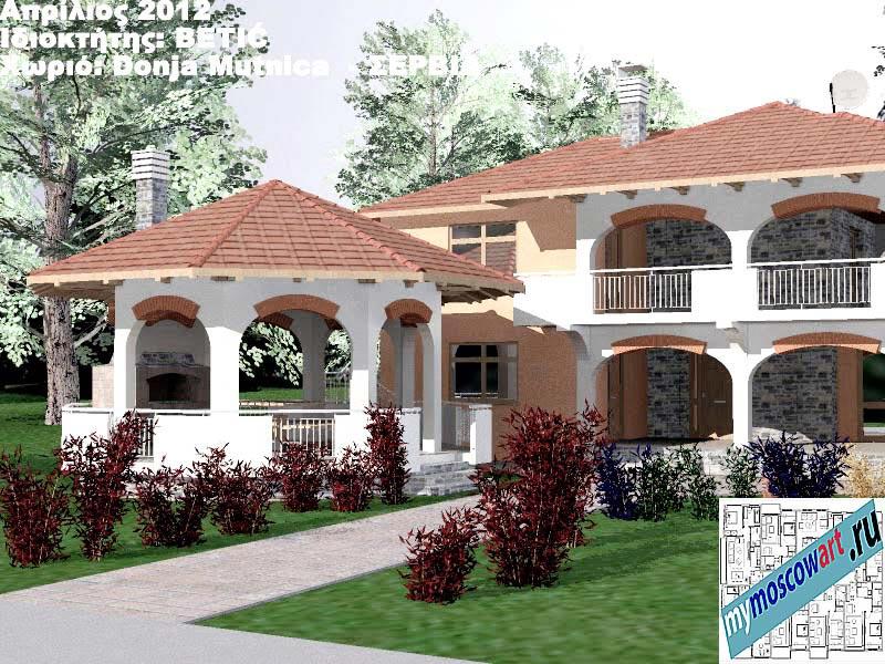 Проект дома - Бетич (Деревня Доня Мутница - Сербия) (2)