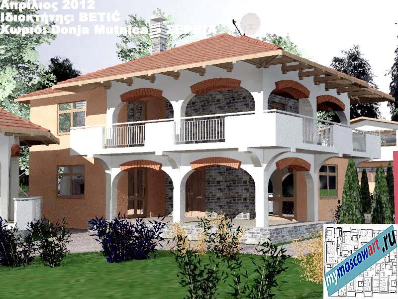 Проект дома - Бетич (Деревня Доня Мутница - Сербия) (4)