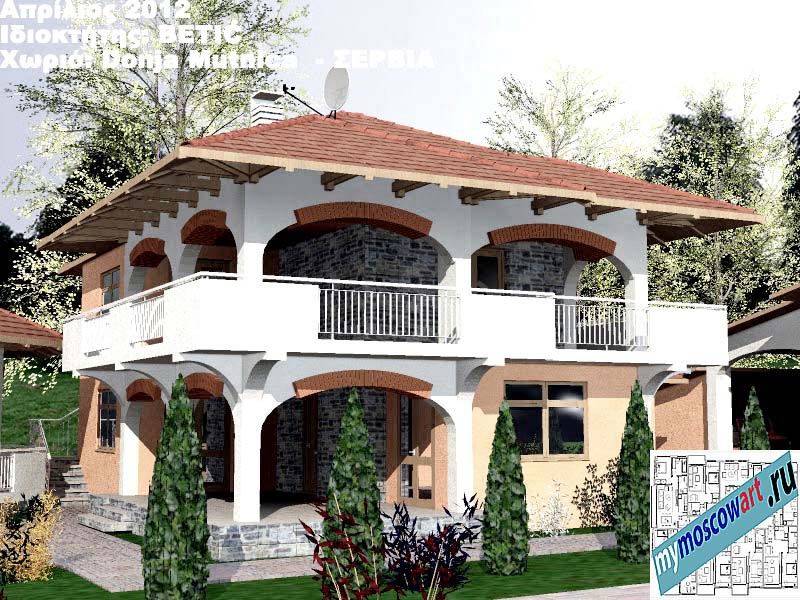 Проект дома - Бетич (Деревня Доня Мутница - Сербия) (6)