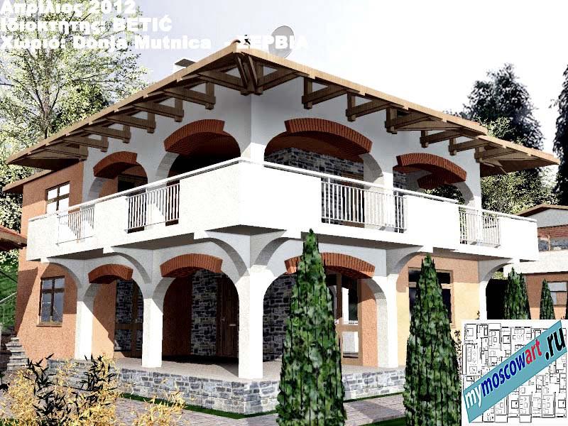 Проект дома - Бетич (Деревня Доня Мутница - Сербия) (8)