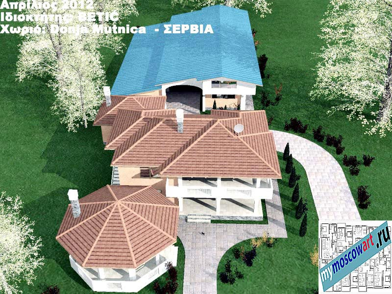 Проект дома - Бетич (Деревня Доня Мутница - Сербия) (10)