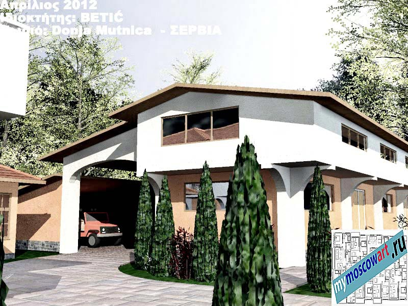 Проект дома - Бетич (Деревня Доня Мутница - Сербия) (14