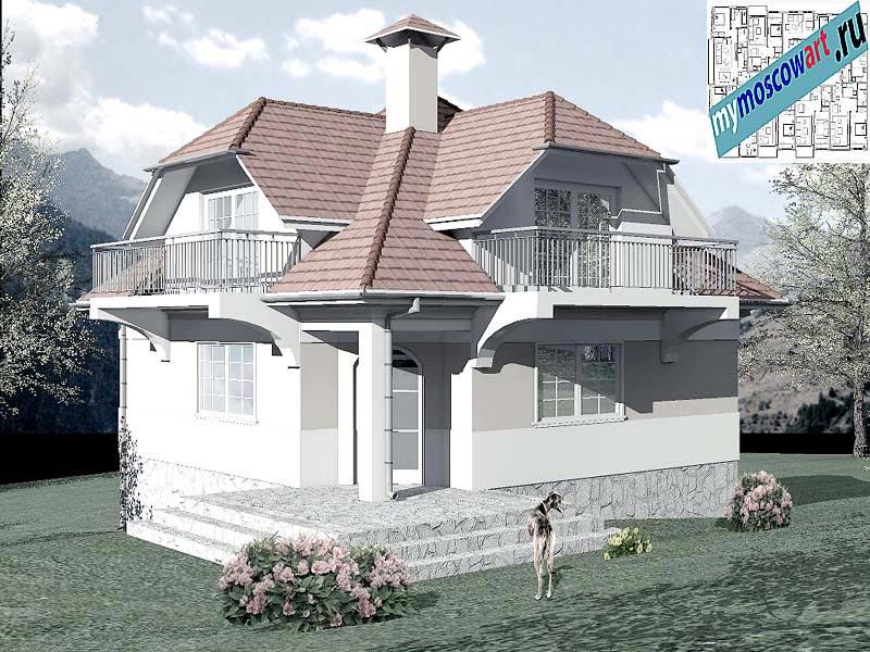 Проект дома - Буда (Парк Фрушка-Гора - Сербия) (1)