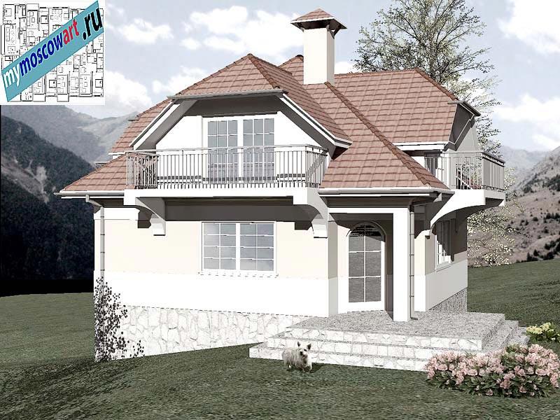 Проект дома - Буда (Парк Фрушка-Гора - Сербия) (2)