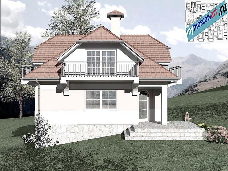 Проект дома - Буда (Парк Фрушка-Гора - Сербия) (3)