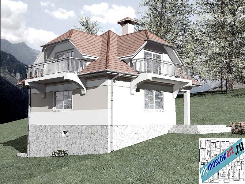 Проект дома - Буда (Парк Фрушка-Гора - Сербия) (4)