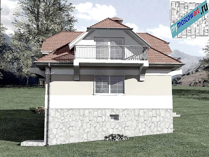 Проект дома - Буда (Парк Фрушка-Гора - Сербия) (5)