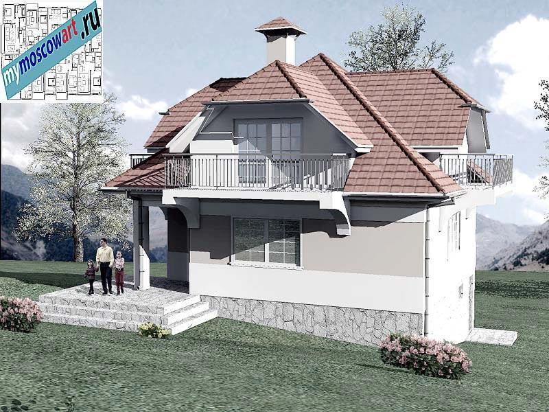 Проект дома - Буда (Парк Фрушка-Гора - Сербия) (9)