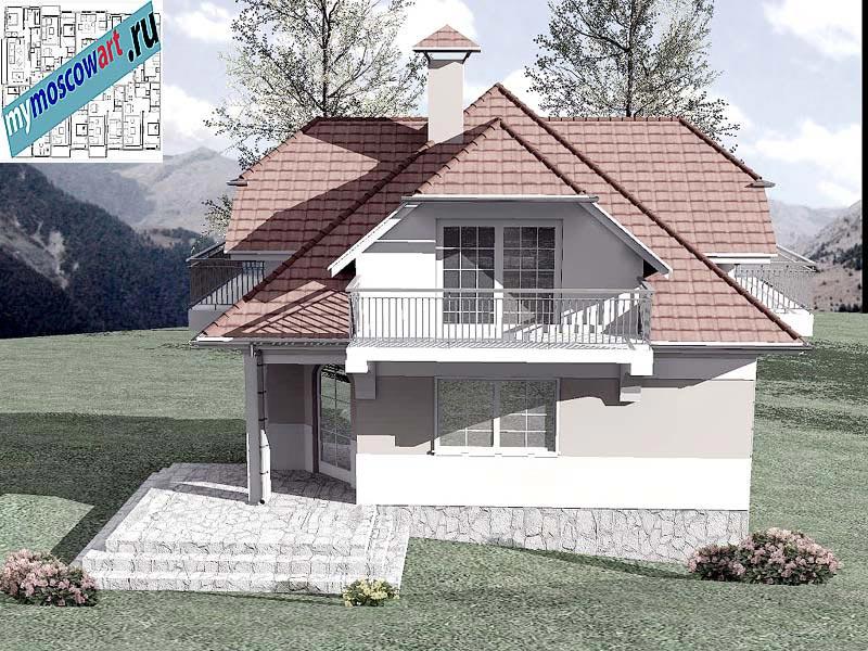 Проект дома - Буда (Парк Фрушка-Гора - Сербия) (10)