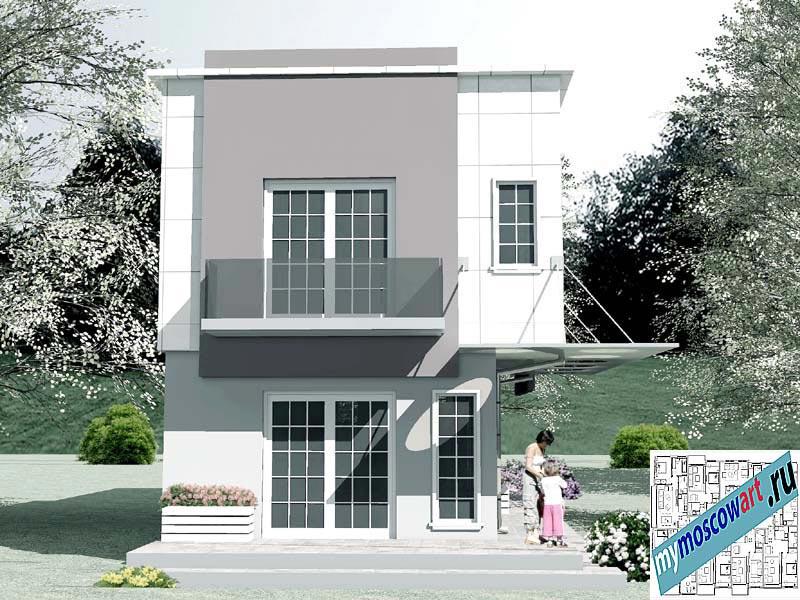Проект бизнес-жилого дома - Соколович (Город Чуприя - Сербия) (1)