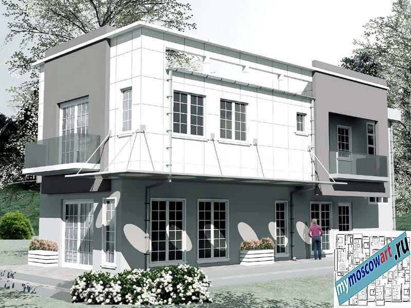 Проект бизнес-жилого дома - Соколович (Город Чуприя - Сербия) (3)