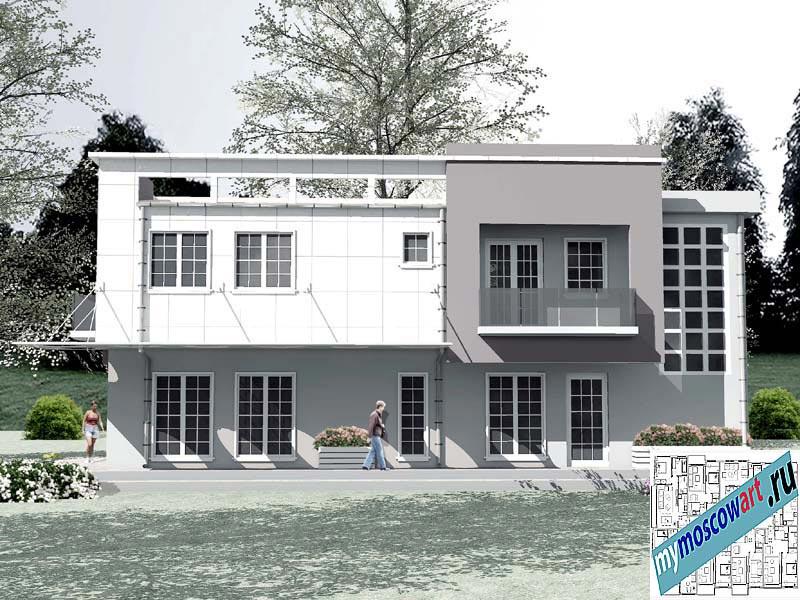 Проект бизнес-жилого дома - Соколович (Город Чуприя - Сербия) (4)