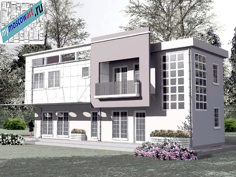 Проект бизнес-жилого дома - Соколович (Город Чуприя - Сербия) (5)