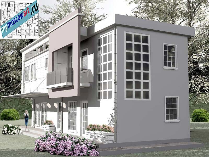 Проект бизнес-жилого дома - Соколович (Город Чуприя - Сербия) (6)