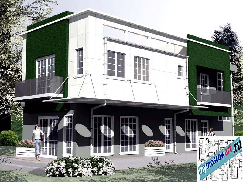 Проект бизнес-жилого дома - Соколович (Город Чуприя - Сербия) (7)