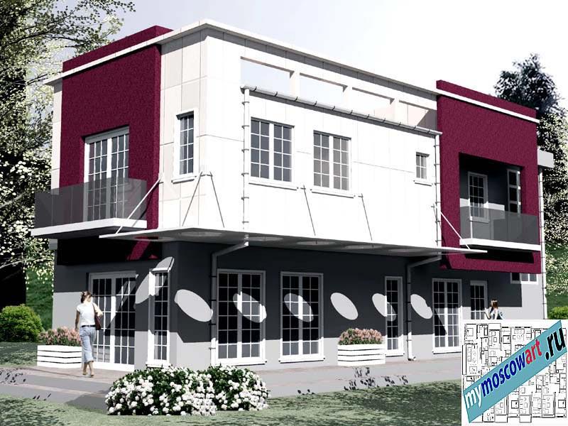 Проект бизнес-жилого дома - Соколович (Город Чуприя - Сербия) (8)