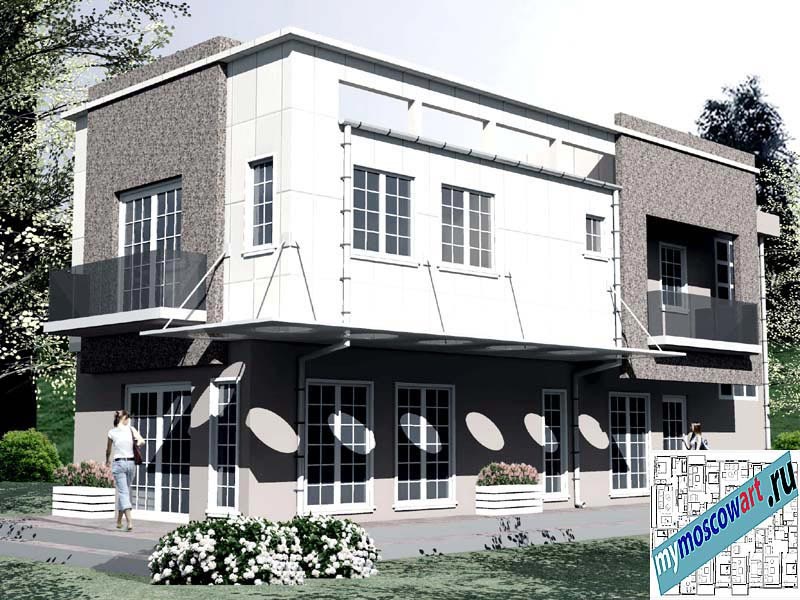 Проект бизнес-жилого дома - Соколович (Город Чуприя - Сербия) (9)