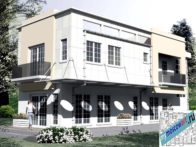 Проект бизнес-жилого дома - Соколович (Город Чуприя - Сербия) (10)