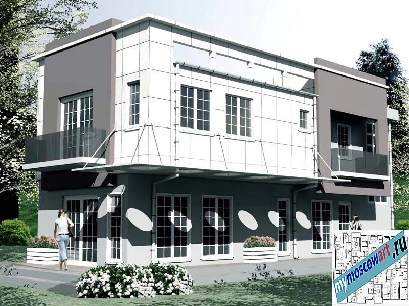 Проект бизнес-жилого дома - Соколович (Город Чуприя - Сербия) (11)