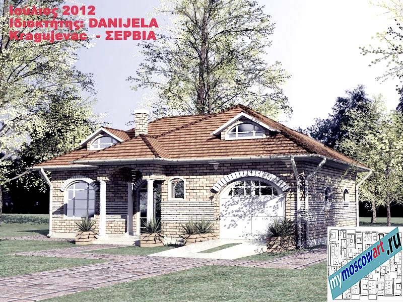 Проект дома - Даниела (Деревня Поповац - Сербия) (1)