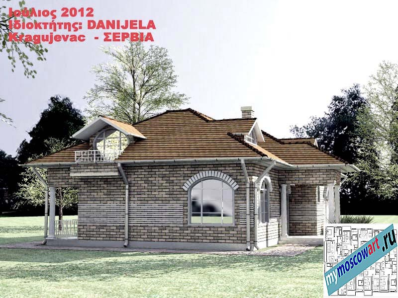 Проект дома - Даниела (Деревня Поповац - Сербия) (5)