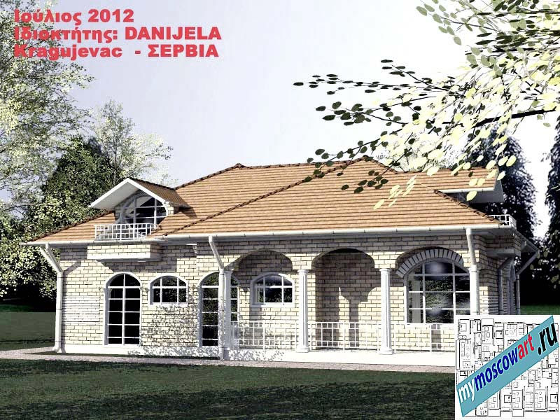 Проект дома - Даниела (Деревня Поповац - Сербия) (7)