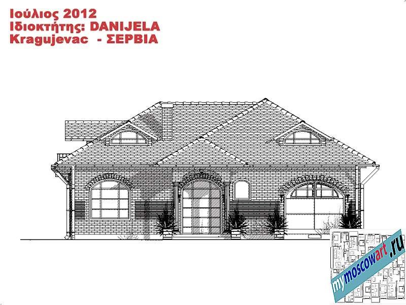 Проект дома - Даниела (Деревня Поповац - Сербия) (11)