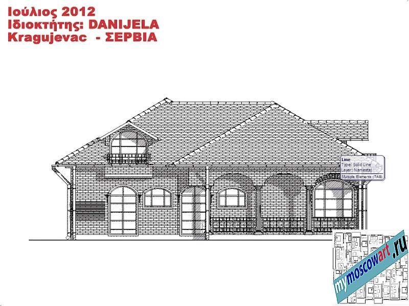 Проект дома - Даниела (Деревня Поповац - Сербия) (13)
