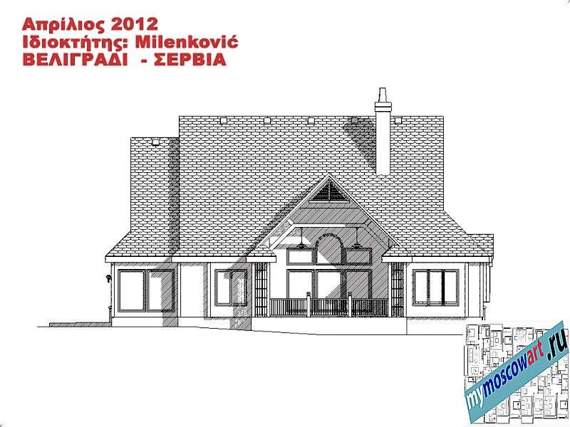 Проект дома - Миленкович (Город Белград - Сербия) (15)