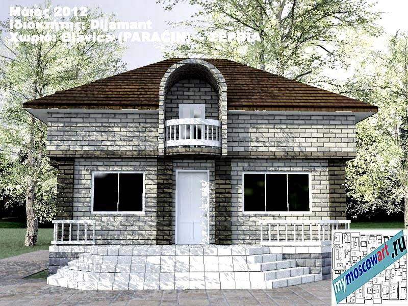 Проект дома - Диямант (Деревня Главица - Сербия) (1)